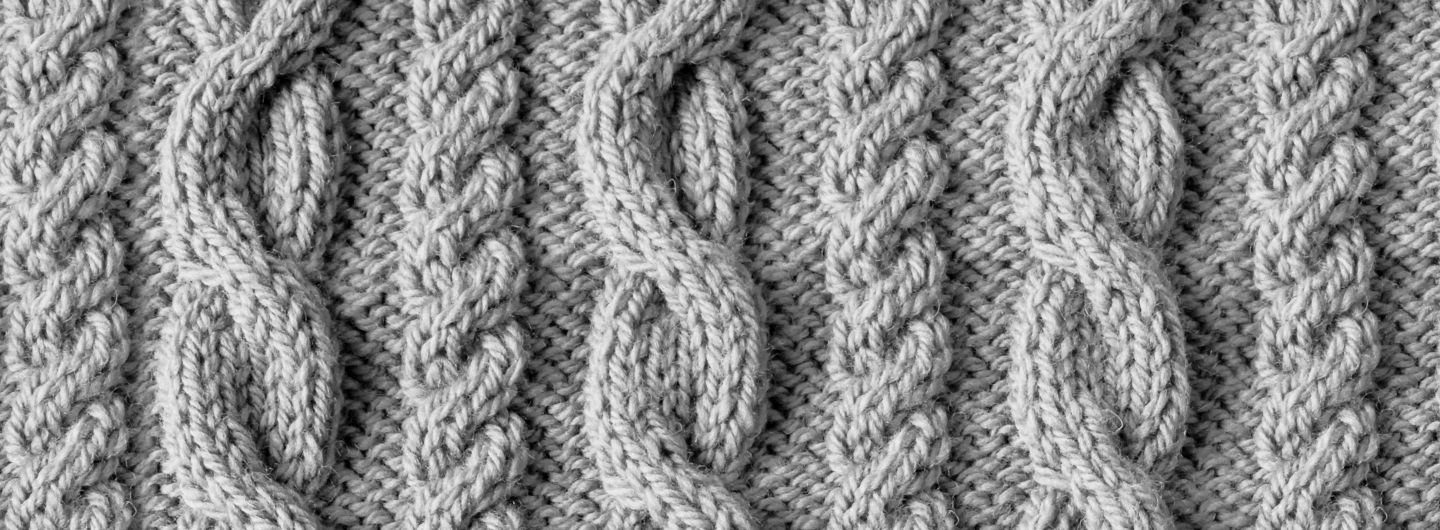 Grey Knit Wallpaper | Cable Knitted Design | MuralsWallpaper